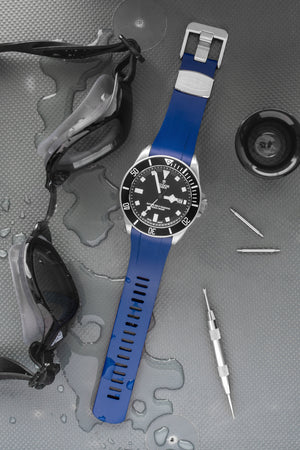 Load image into Gallery viewer, Crafter Blue Rubber Watch Strap for Tudor Pelagos Series in Blue (Promo Photo)