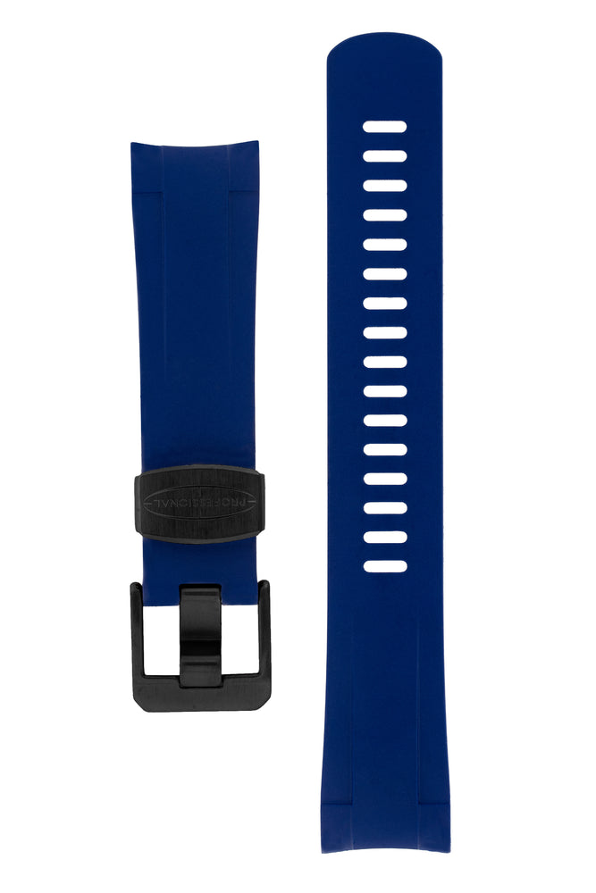 Crafter Blue Rubber Watch Strap for Tudor Pelagos Series in Blue (Black PVD Hardware)