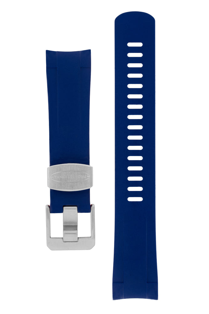 Crafter Blue Rubber Watch Strap for Tudor Pelagos Series in Blue