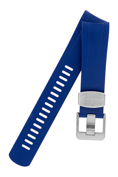 Crafter Blue Rubber Watch Strap for Tudor Pelagos Series in Blue & Red