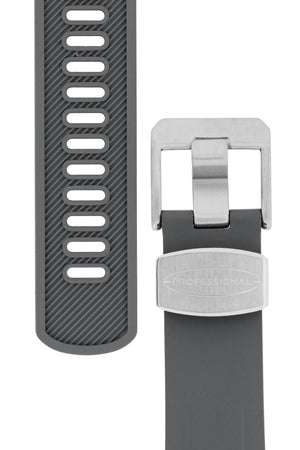Load image into Gallery viewer, Crafter Blue Rubber Watch Strap for Tudor Pelagos Series in Grey (Tapers & Buckle)