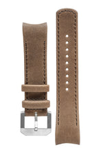 CRAFTER BLUE CB05L Italian Leather Curved End Watch Strap for Seiko SKX Series – KHAKI