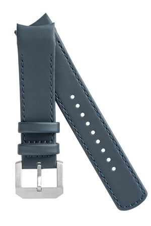 CRAFTER BLUE Italian Leather Curved End Watch Strap for Seiko SKX Series – NAVY BLUE