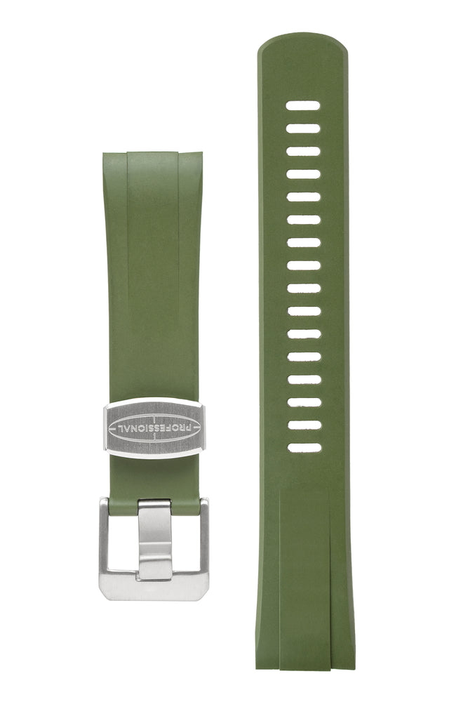 "CRAFTER BLUE CB08 Rubber Watch Strap for Seiko ""New"" Turtle Series – GREEN"