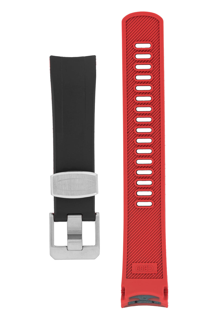 CRAFTER BLUE Rubber Watch Strap for Seiko