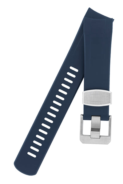 "Crafter Blue Rubber Watch Strap for Seiko ""New"" Samurai Series – Navy"