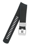 "CRAFTER BLUE Rubber Watch Strap for Seiko ""New"" Samurai Series – BLACK & BLUE"