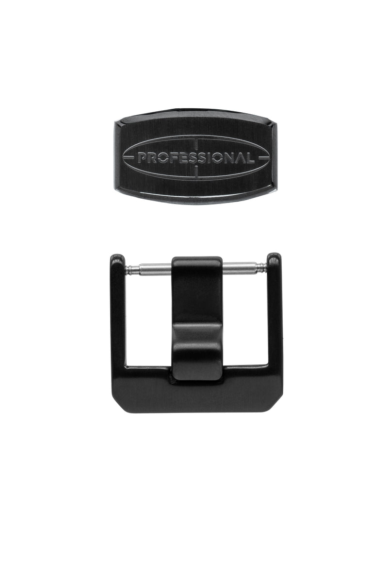 CRAFTER BLUE Buckle & Keeper Set - PVD Black Steel