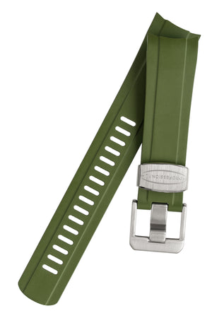 Load image into Gallery viewer, Crafter Blue Rubber Watch Strap for Seiko SKX Series in Green with Rubber & Steel Keepers