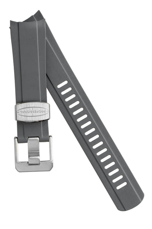 Crafter Blue Rubber Watch Strap for Seiko SKX Series in Grey with Rubber & Steel Keepers