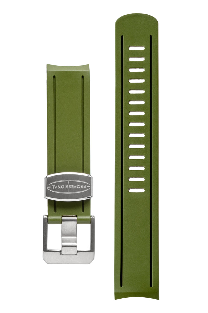 Crafter Blue Rubber Watch Strap for Seiko Sumo in Green