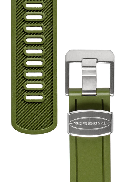 CRAFTER BLUE Rubber Watch Strap for Seiko Sumo – GREEN