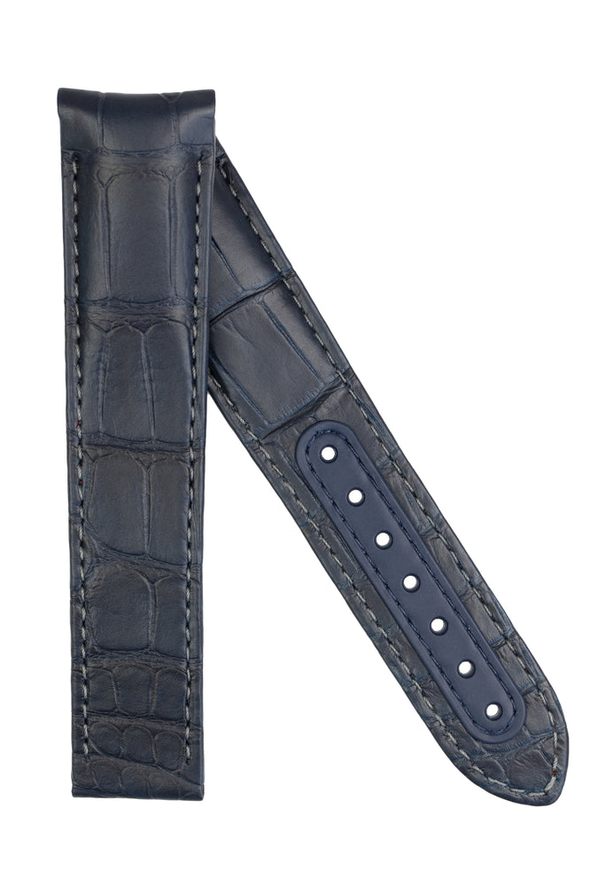 Load image into Gallery viewer, OMEGA CUZ007281 Speedmaster 'Blue Side of The Moon' 21mm Alligator Deployment Strap - BLUE