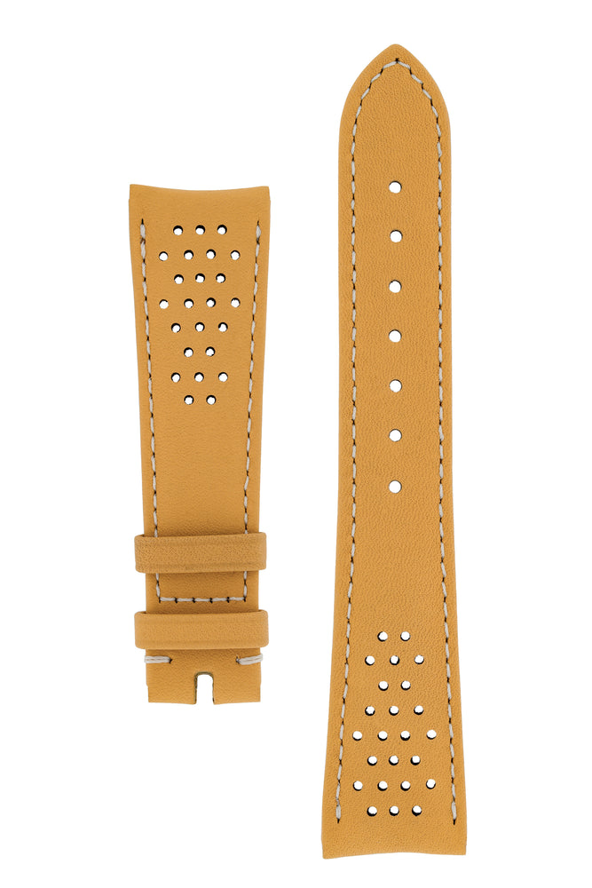 OMEGA Seamaster Olympic Perforated Leather Strap in Gold Brown