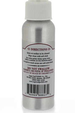 Cape Cod Metal Polishing Spray (Rear Label)