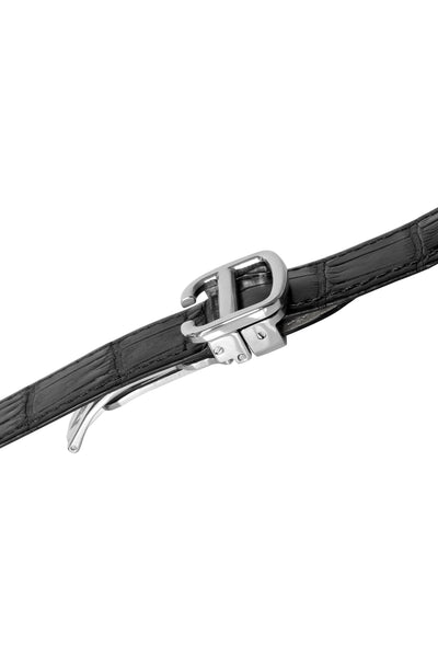 Cartier-Compatible Metal Deployment Clasp in Polished Silver (On Strap)