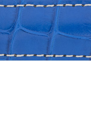 Hirsch CONNOISSEUR Genuine Alligator Watch Strap in ROYAL BLUE