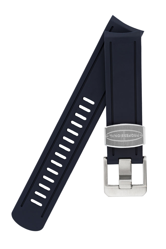 Crafter Blue Rubber Watch Strap for Seiko Sumo in Navy Blue