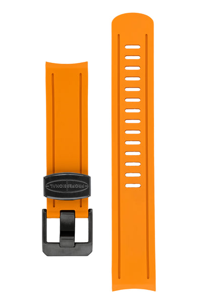 CRAFTER BLUE Rubber Watch Strap for Seiko Sumo – ORANGE