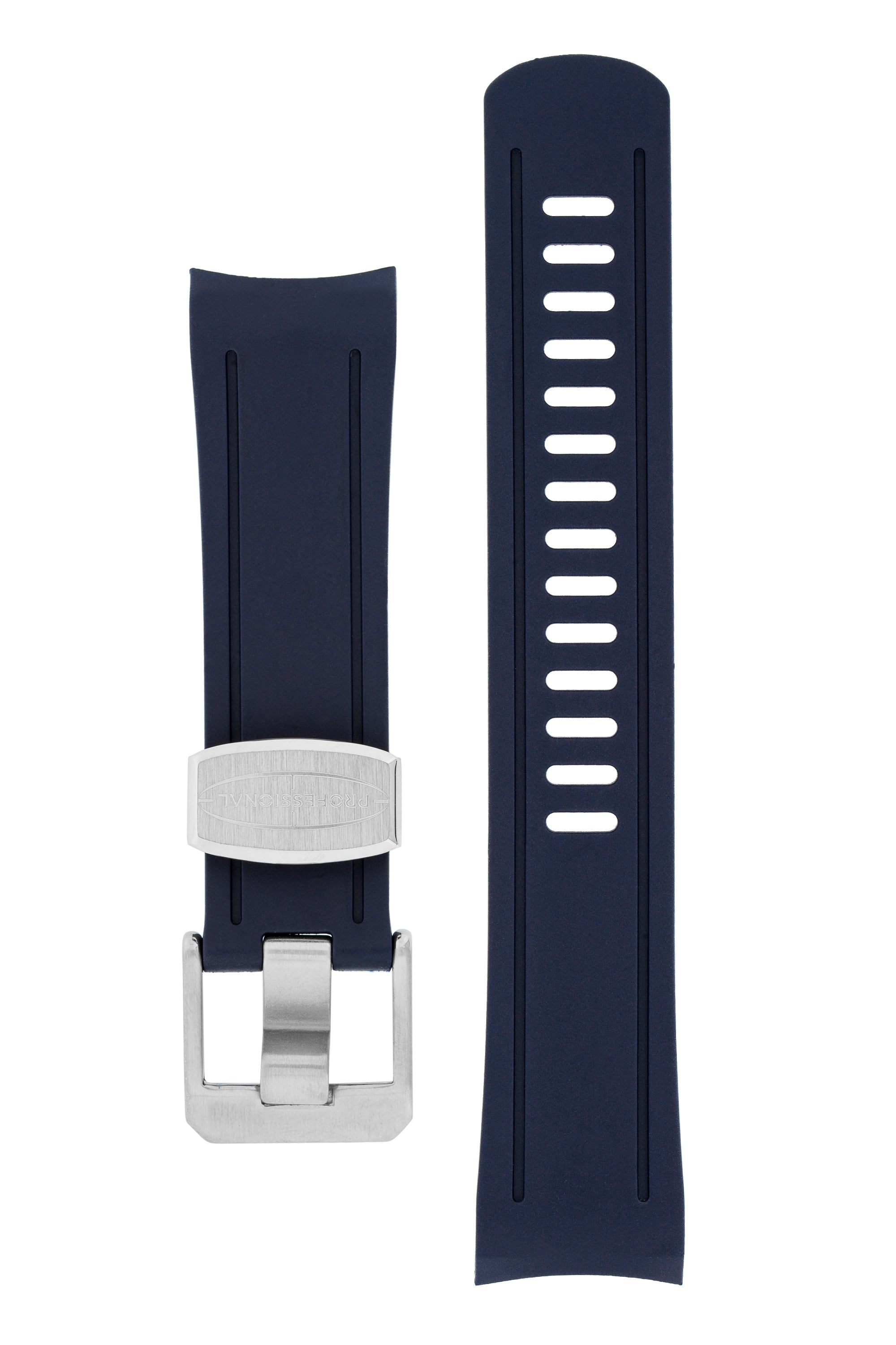 CRAFTER BLUE Rubber Watch Strap for Seiko Shogun Series – NAVY