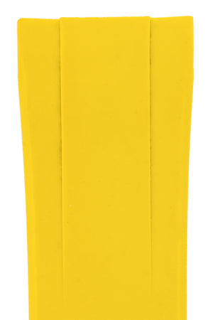 "Crafter Blue Rubber Watch Strap for Seiko ""New"" Turtle Series – Yellow (Detail)"
