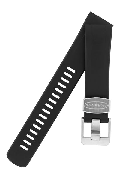 "Crafter Blue Rubber Watch Strap for Seiko ""New"" Turtle Series – Black"