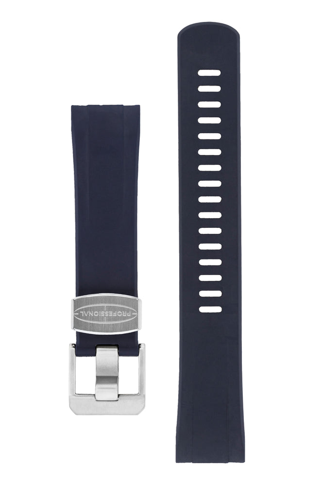 "CRAFTER BLUE CB08 Rubber Watch Strap for Seiko ""New"" Turtle Series – NAVY BLUE"