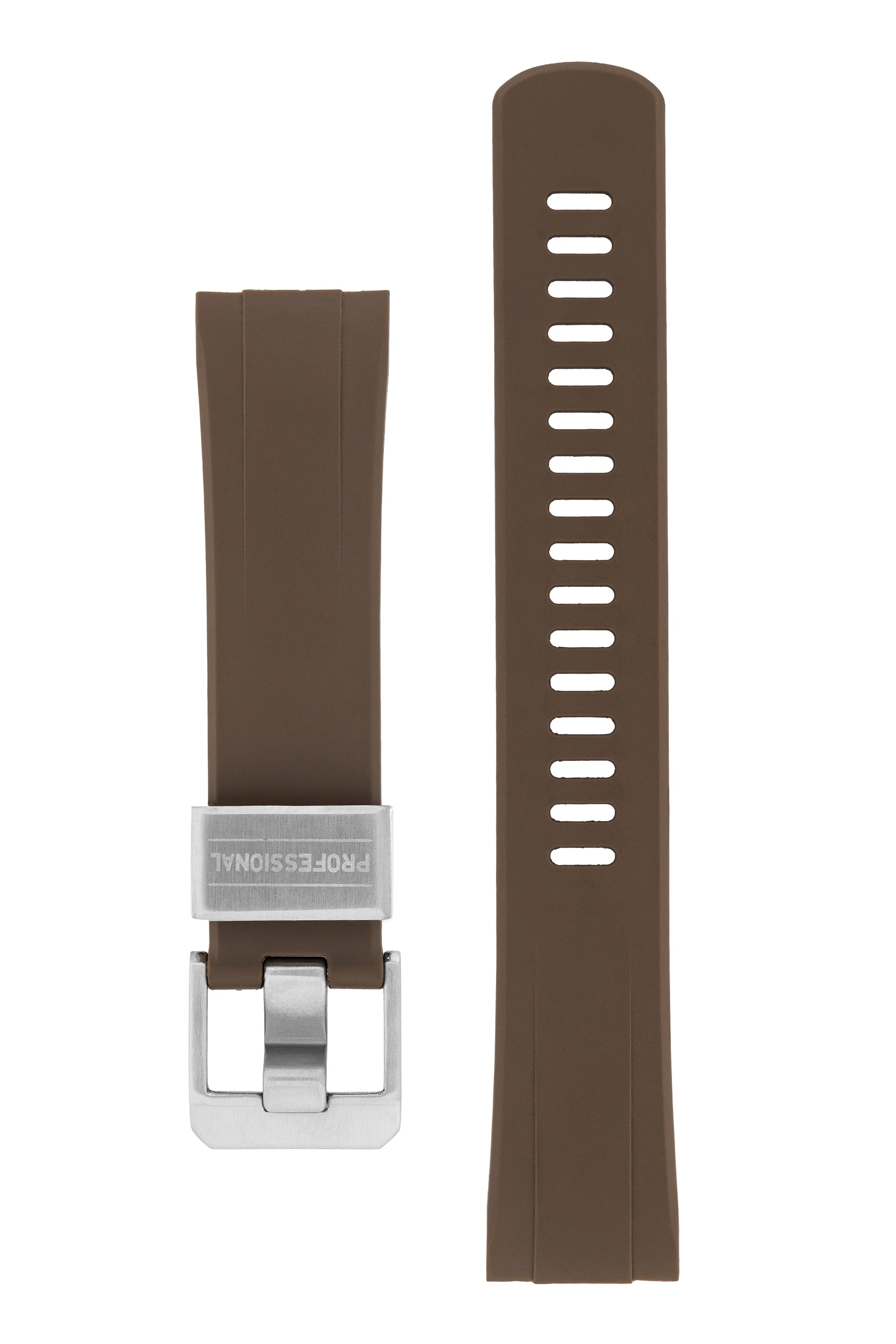 "CRAFTER BLUE Rubber Watch Strap for Seiko ""New"" Turtle Series – BROWN"