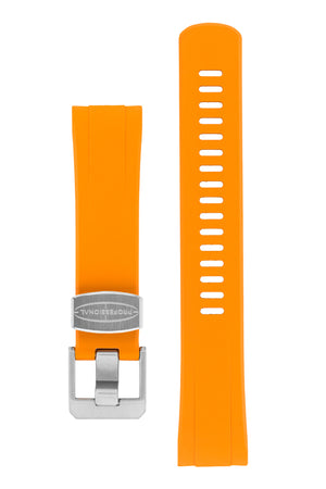 "Crafter Blue Rubber Watch Strap for Seiko ""New"" Turtle Series – Orange"