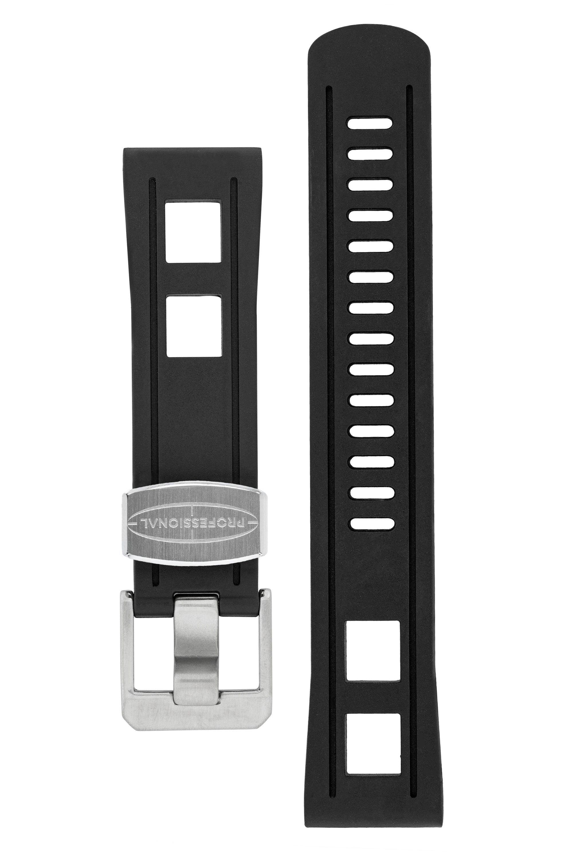 CRAFTER BLUE Universal 22mm Watch Strap for Professional Dive Watch – BLACK