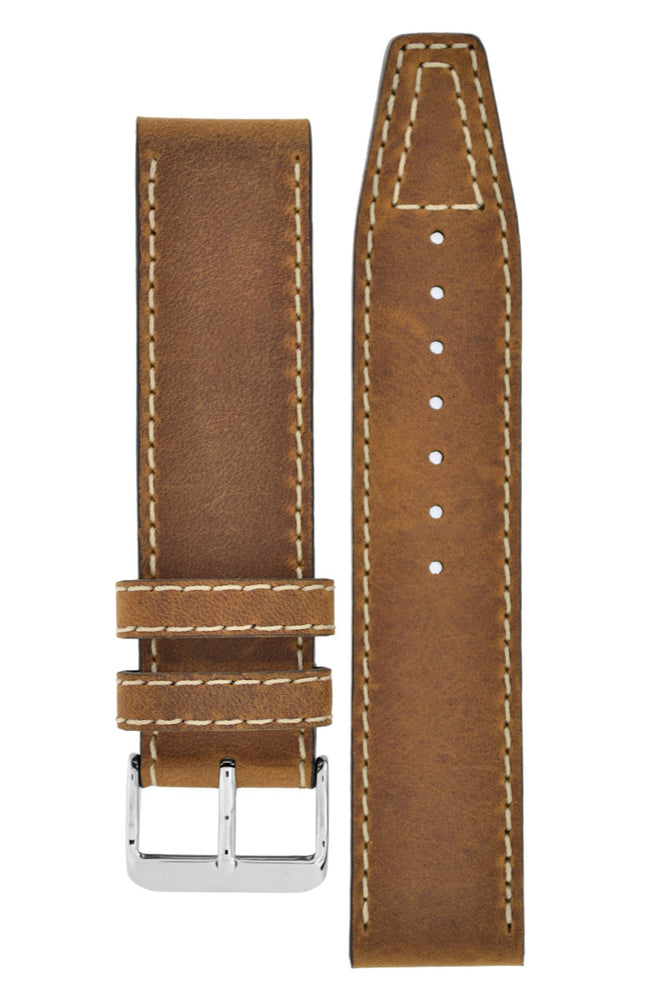 Di-Modell NEVADA Leather Watch Strap in GOLD BROWN