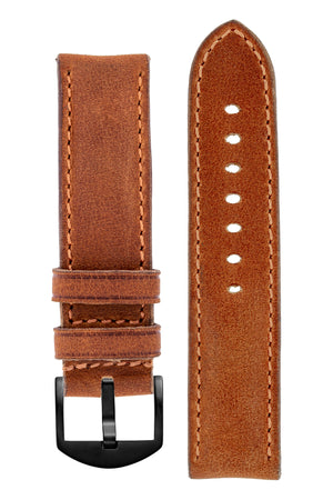 Load image into Gallery viewer, Rios1931 DERBY Genuine Vintage Leather Watch Strap in COGNAC