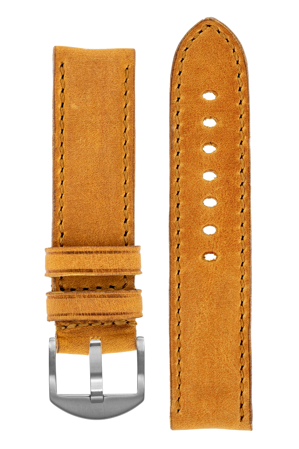 Rios1931 DERBY Genuine Vintage Leather Watch Strap in HONEY