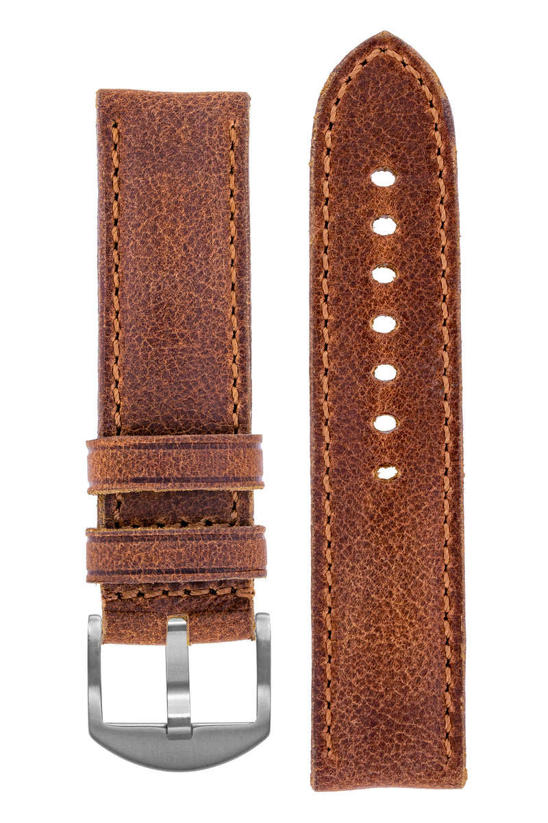 Rios1931 DERBY Genuine Vintage Leather Watch Strap in MAHOGANY