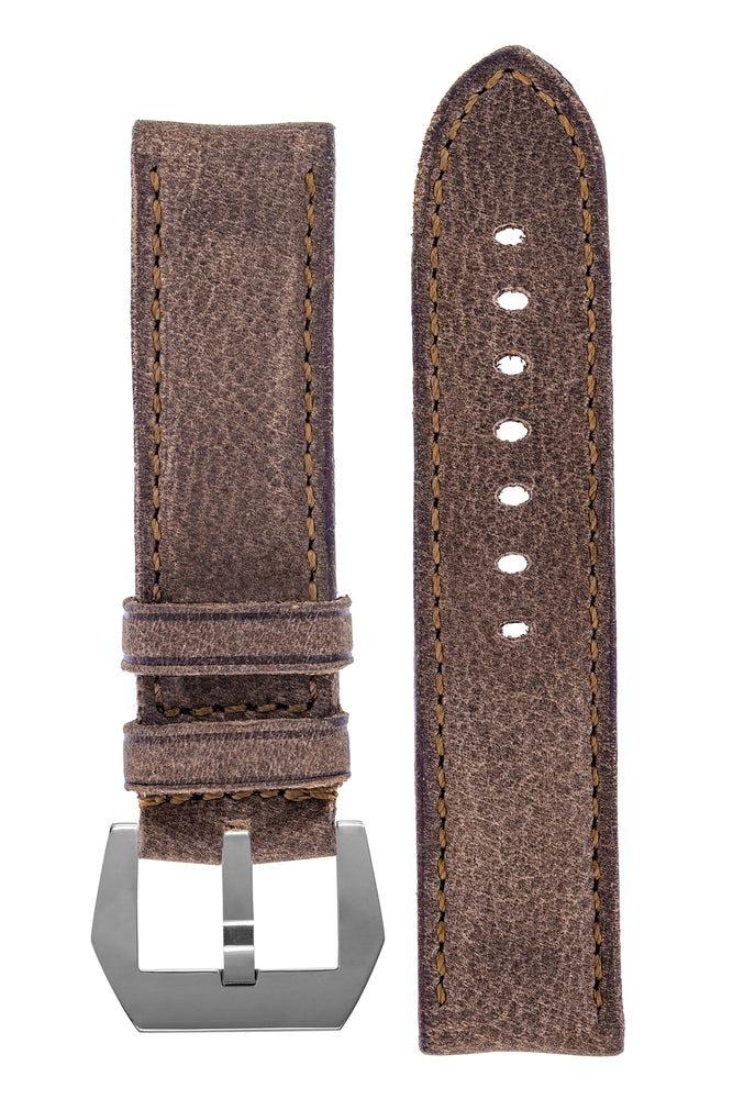 Rios1931 DERBY Genuine Vintage Leather Watch Strap in MOCHA