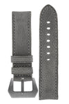 Rios1931 DERBY Genuine Vintage Leather Watch Strap in STONE GREY