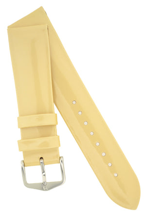 Hirsch DIVA Glossy Ladies Leather Watch Strap in BEIGE
