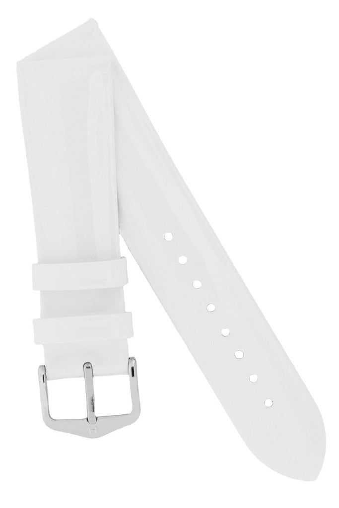 Hirsch DIVA Glossy Ladies Leather Watch Strap in WHITE