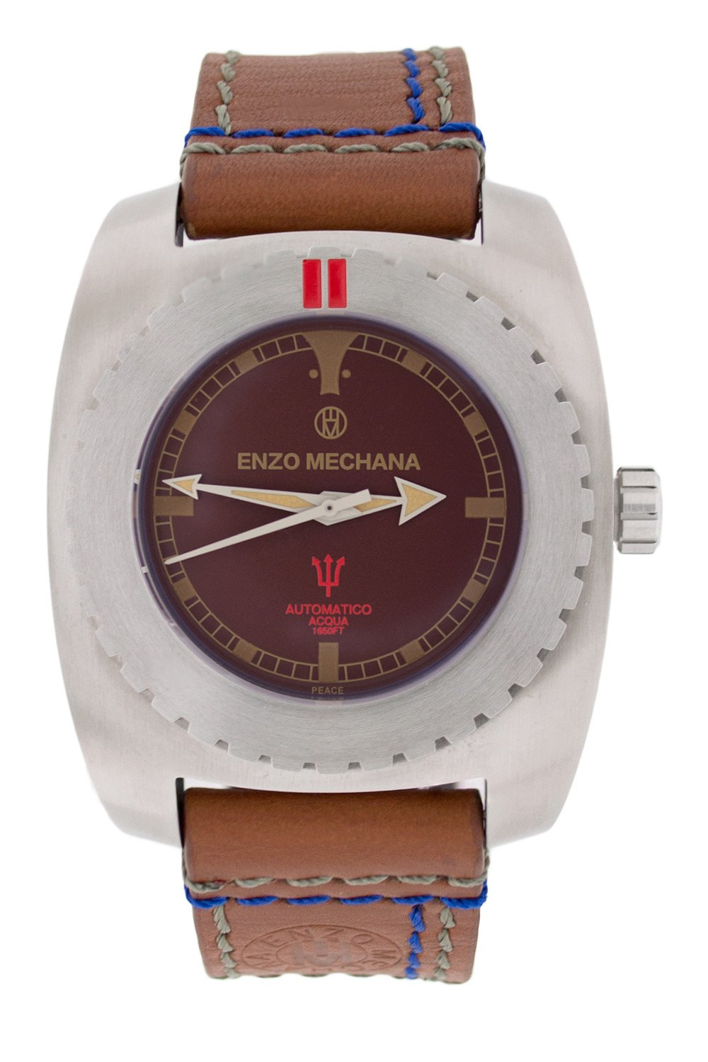 Enzo Mechana ACQUA 500m Automatic Watch - BROWN Dial