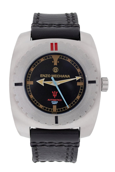 Enzo Mechana Limited Edition Acqua 500m Automatic Watch with Black Dial