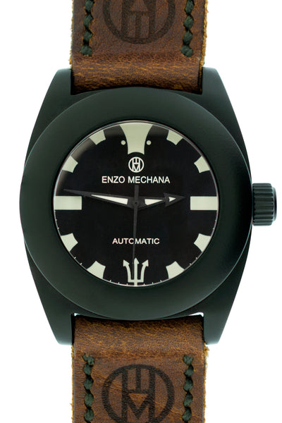 Enzo Mechana Mare Nero Limited Edition 42mm Automatic Watch with Black Dial