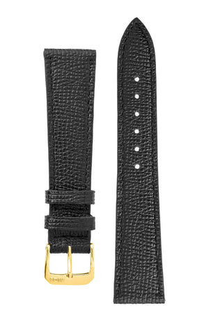 Rios1931 FRENCH Leather Watch Strap in BLACK