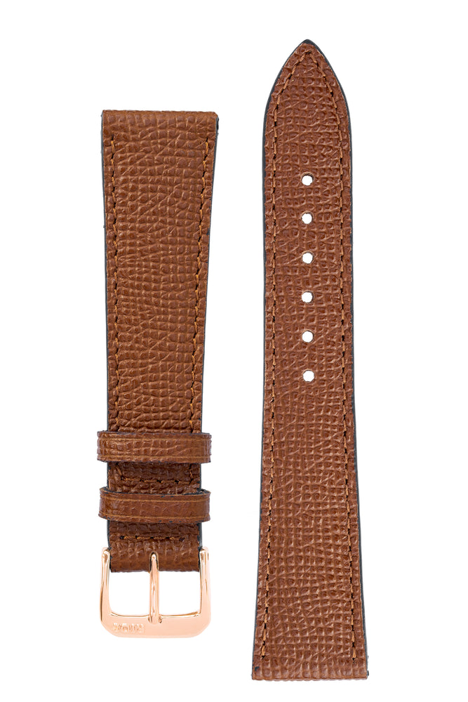 Rios1931 FRENCH Leather Watch Strap in COGNAC