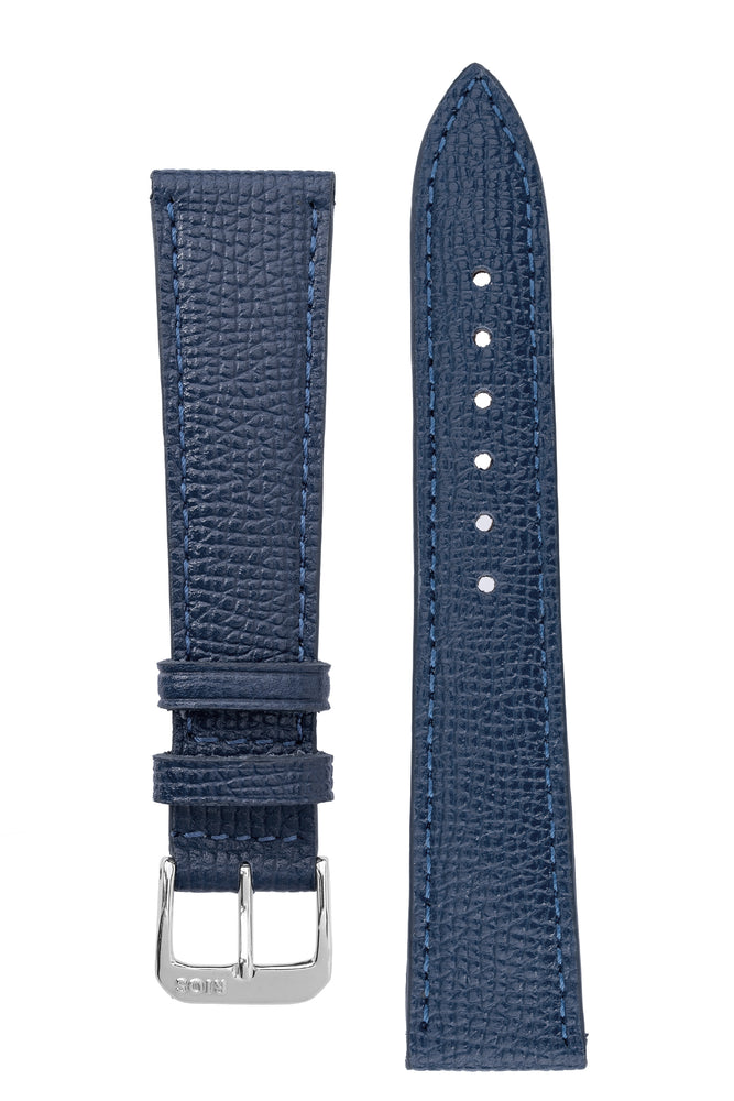 Rios1931 FRENCH Leather Watch Strap in OCEAN BLUE