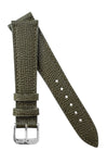 Rios1931 FRENCH Leather Watch Strap in OLIVE DRAB