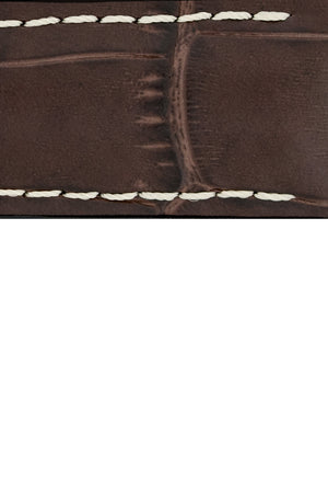 Hirsch GEORGE Alligator Embossed Performance Watch Strap in BROWN