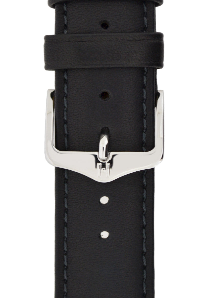 Hirsch H-Tradition Polished Stainless Steel Buckle in Silver-Tone