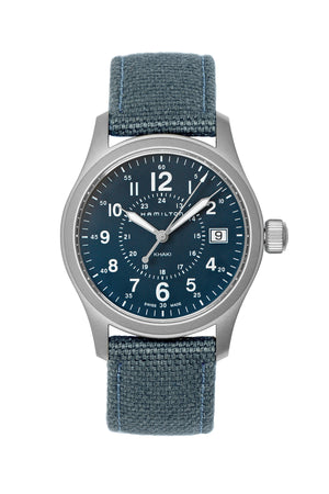 Hamilton H68201943 Khaki Field Quartz 38mm Watch with Blue Dial