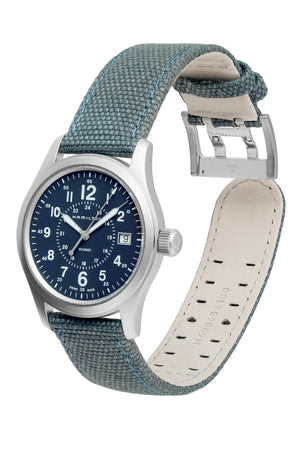 Hamilton H68201943 Khaki Field Quartz 38mm Watch with Blue Dial (Full Loop)