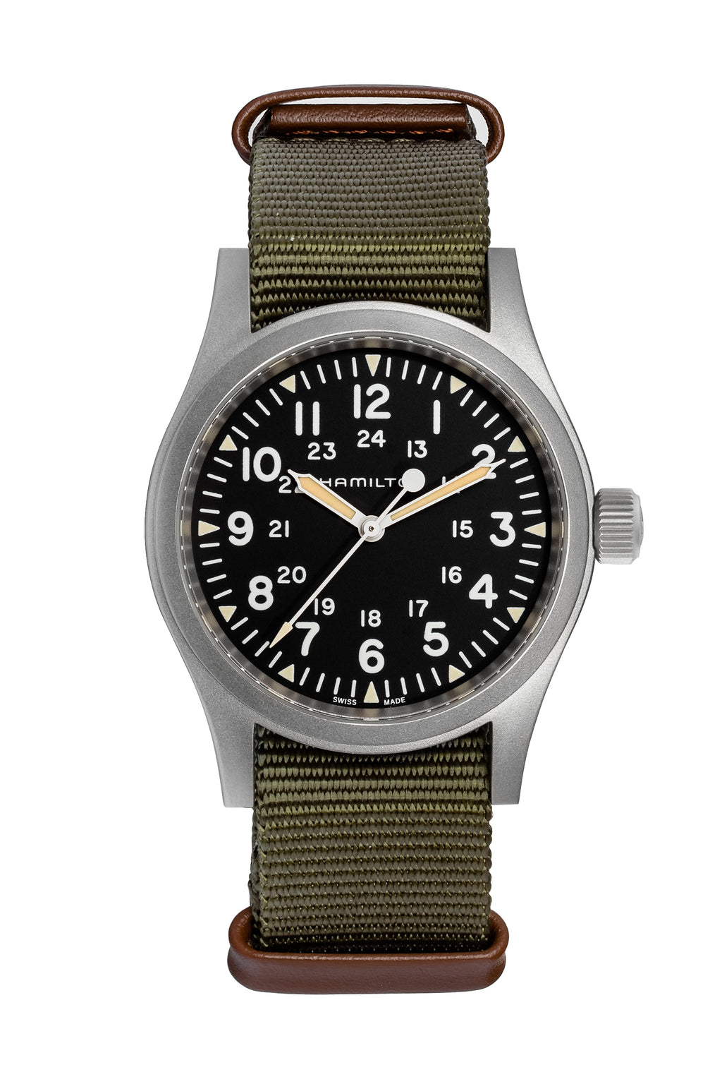 HAMILTON H69429931 Khaki Field Mechanical 38mm Watch - Black Dial
